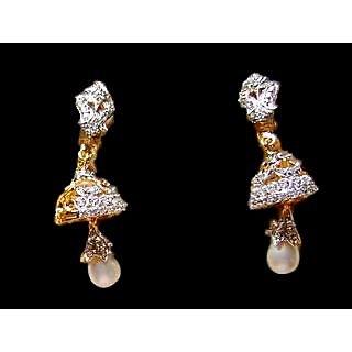 Bijou American Diamond Jhumka