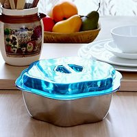 Ecofils SteelOne Star Bowl | Food Bowl | Steel Serving Bowl | Servingware | Fancy Bowl 2 - 1000ml