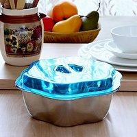 Ecofils SteelOne Star Bowl | Food Bowl | Steel Serving Bowl | Servingware | Fancy Bowl - 700ml