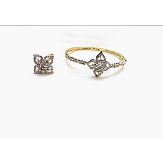 Bijou American Diamond Bracelet & Ring Combo
