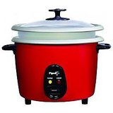 Pigeon Electric Rice Cooker Joy Unlimited 1.8 Ltr Double Pot - Red