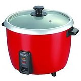 Pigeon Electric Rice Cooker Joy 1.0 Ltr Single Pot (Red)