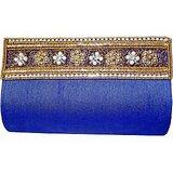 Moksh Dazzling Blue Pearl Clutch