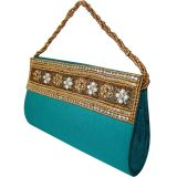 Moksh Attractive Turquoise Clutch