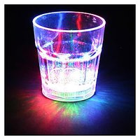 LED On The Rock Glass Peg Shot Glass