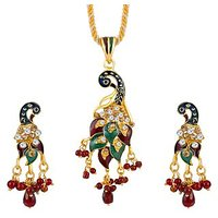 Sukkhi Creative Fashion Menakari Gold Plated Pendant Set 1011V
