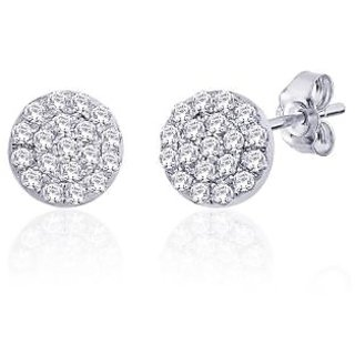 Peora Sterling Silver Earring With Cz Pe114