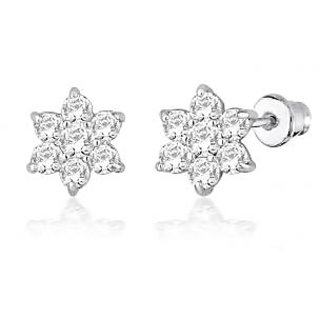 Peora Pra Cz Sterling Silver Earrings Pe1322