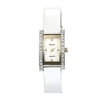 Oleva Ladies Leather Watch with Genuine Leather Strap OLW5SW