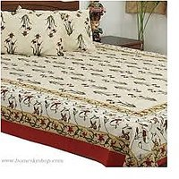 Double Bedsheet With 2 Pillow Cover 100% Cotton 3 Pc Set
