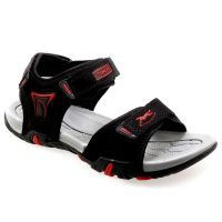 Tomcat Mens Black  Red Velcro Sandals