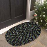 Beautiful Door Mat (set Of 2 Piece)- Black