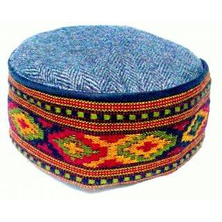 Himachali Cap(Pahari Topi) - Red Tweet