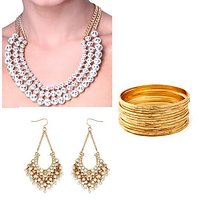 The Pari's Exclusive Combo of Necklace, Earrings & Bangles