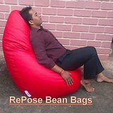 Compare Premium XXXL Bean Bags. BEST QUALITY. stretchable, soft. COVER ONLY at Compare Hatke