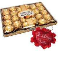 Ferrero Rocher 24 Pcs With I Love You Keychain