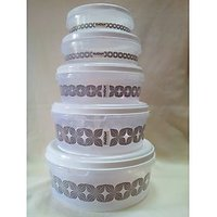 Nayasa Kitchen Set Of 5 Trendy Airtight Containers For Storage
