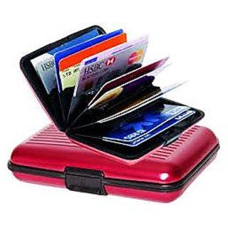 SECURITY  ALUMA CREDIT  DEBIT CARD HOLDER RED - UNISEX