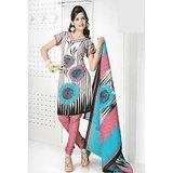 BURFI Dress Material Spun Cotton Designer Prints Unstitched Salwar Kameez Suit D.No B10002