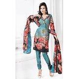 BURFI Dress Material Spun Cotton Designer Prints Unstitched Salwar Kameez Suit D.No B10023