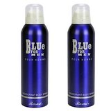 Rasasi Blue for Men Deodorant Body Spray - 200ml (Pack of 2)