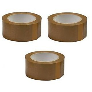 200 Meters 2 Inches Brown Tape 3 Pieces Set