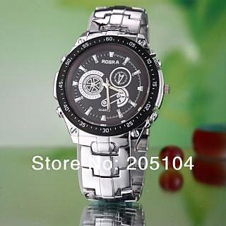 Buy s49 fashion watches men luxury brand rosra montre analog online for Rosra watches