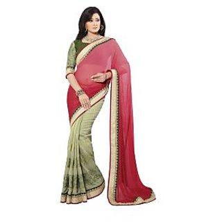 Bhavi Embroidered Embellished Sari (BHAM2632)