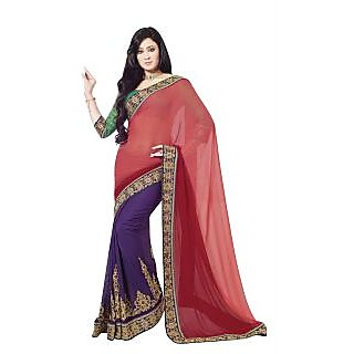 Bhavi Embroidered Embellished Sari (BHAM2620)