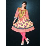 AccelDiamond Designer Ready To Wear Stitched Cotton Kurti with Leggings (KR_72)