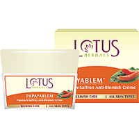 Lotus Herbals Papayablem Papaya-N-Saffron Anti-Blemish Cream 50 G