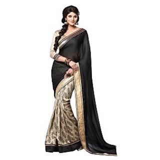 Bhavi Embellished Sari with Border (BHVS552)