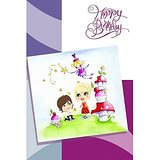GreetZAP Voice Card: Birthday Wishes - Cartoon