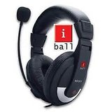 iBall Stereo Headphone with Mic Rocky (1YR MANF WTY)