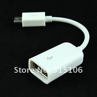 Usb Otg Cable Host Adapter For Samsung Galaxy Note S2 S3 For Connect Pen Drive White