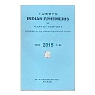 Lahiri Ephemeris 2015