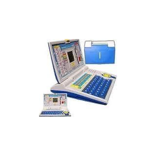 New Kids Education Laptop English Learner with Mouse Latest Gift Toy Blue Color