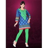 AccelDiamond Designer Ready To Wear Stitched Cotton Kurti with Leggings (KR_73)