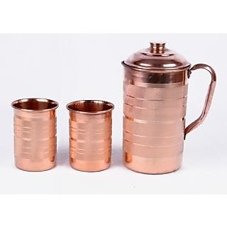 best online glasses store gx4y  INDIAN COPPER WATER 2 GLASSES & JUG HEALTH MINERALS WATER HEALTH NERVOUS  SYSTEM