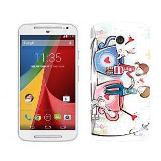 Wow Premium Design Back Cover For Motorola Moto G (2nd Gen) PNTMTG2A01251