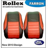 Fabia Grey With Light Grey Farron Art Leather Car Seat Covers