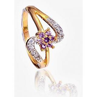 Bijou American Diamond Flower Ring