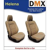 DMX Yeti Black With White Helena Leather Car Seat Covers