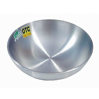 Tasla 1.2 Liters - 19 cm OTC Aluminium  Kadhai / Kadai without Handle