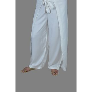 Premium Ribbon Double Pants White