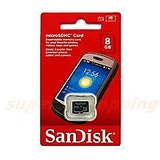 Sandisk MicroSDHC Card 8GB Micro SD 8 GB SEALED PACK 5 YEAR WARRANTY