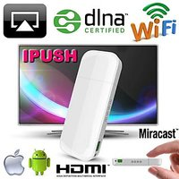 Gadget Hero's IPUSH WiFi DLNA / Miracast / Airplay Media Sharing HDMI Adapter For Android PC Samsung Tablet & PhoneApple IPad IPhone IPod Macbook