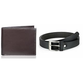 Rico Sordi Leather Wallet & Leather Belt(Design 8)(Rsmw_41_43_Wb)