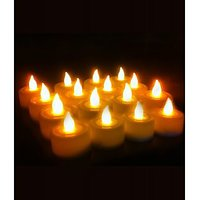 TG's Tea Light Diya's Candle (Yellow, Pack Of 12)