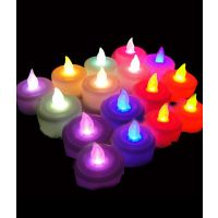 TG's Set Of 2 Tea Light Diya's Candle (Multicolor, Pack Of 12)